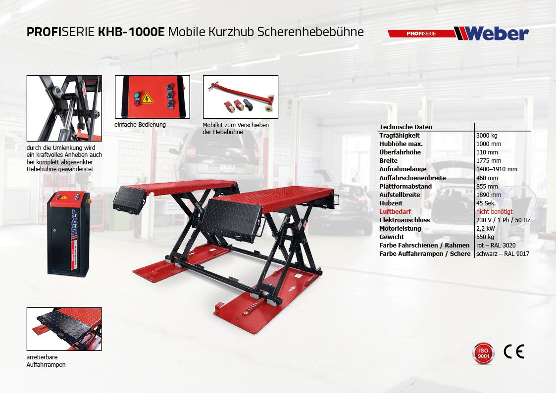 Weber Profi Kurzhubhebebühne KHB-1000E