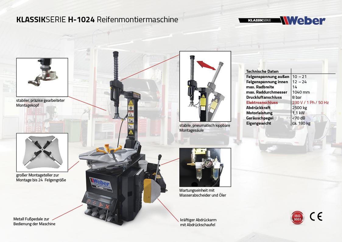 Weber Klassik Reifenmontiermaschine