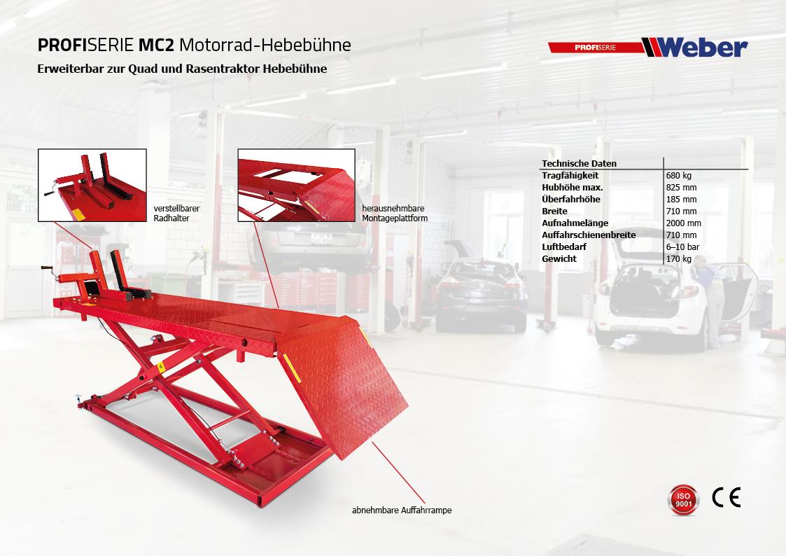 Weber Profi Serie Motorradhebebühne MC2