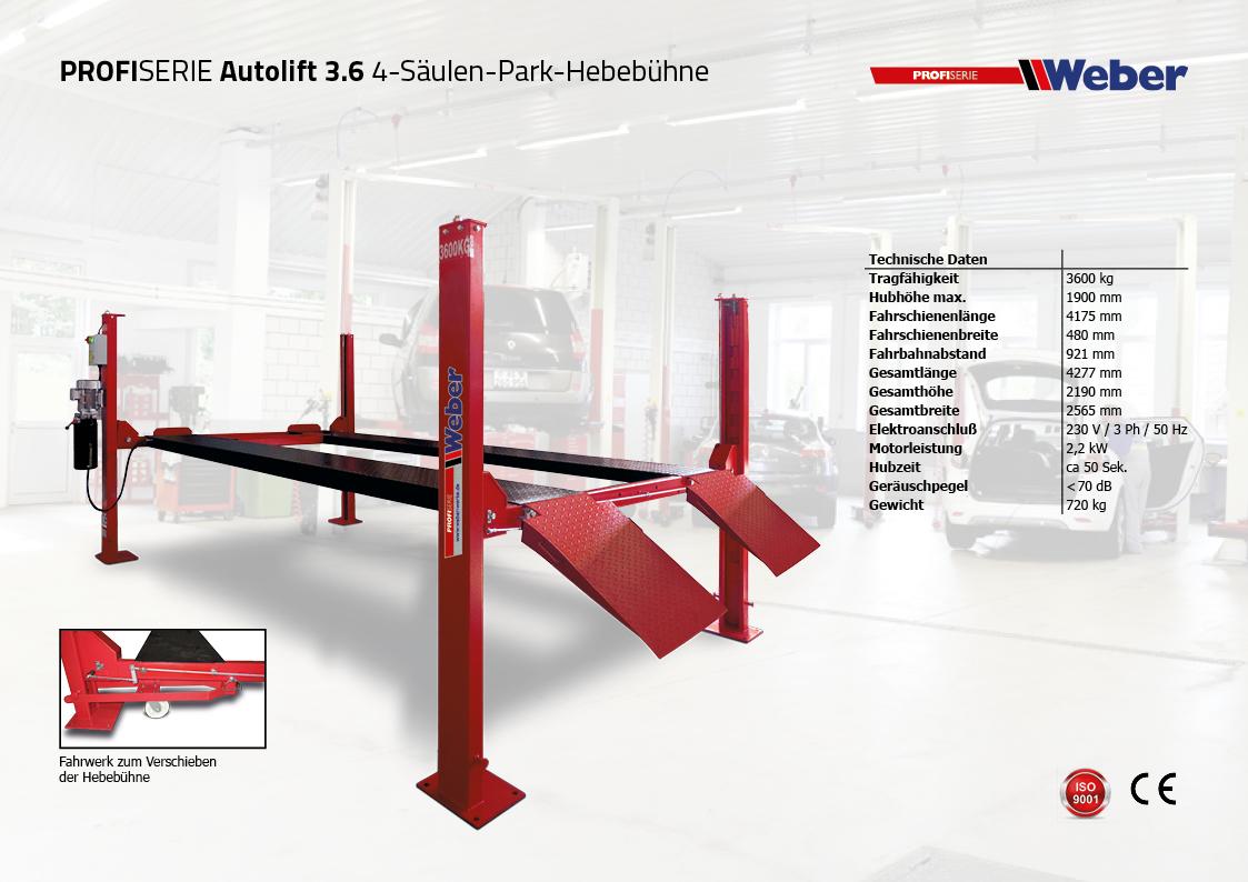 4 s ulen hebeb hne weber pkw lkw autolift 3 6 si trade. Black Bedroom Furniture Sets. Home Design Ideas