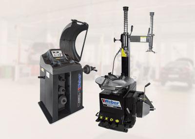 PKW Radwuchtmaschine und Montiermaschine Weber Klassik Serie Paket