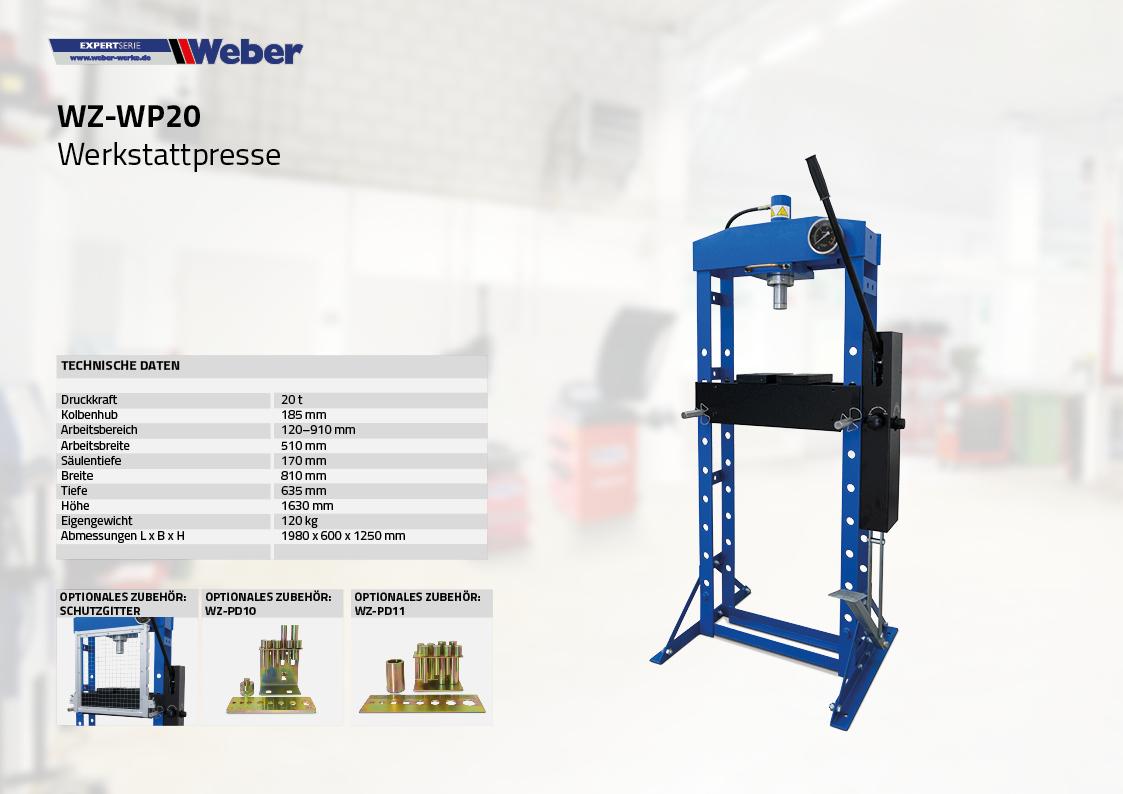 Werkstattpresse WZ-WP20