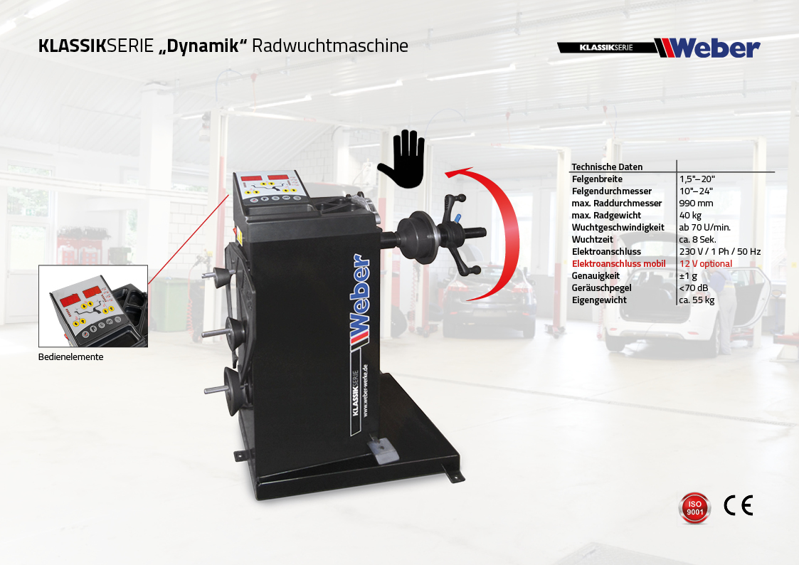 "PKW Radwuchtmaschine Weber Klassik Serie ""Dynamik"""