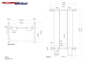 Mobile 4-Säulen-Parkhebebühne Weber ProfiSerie Autolift 3.6
