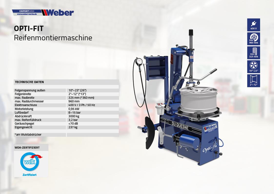 Reifenmontiermaschine Weber Expert Opti-Fit