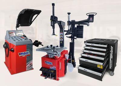 PKW Radwuchtmaschine, Reifenmontiermaschine, Hilfsmontagearm + Werkzeugwagen 154-teilig