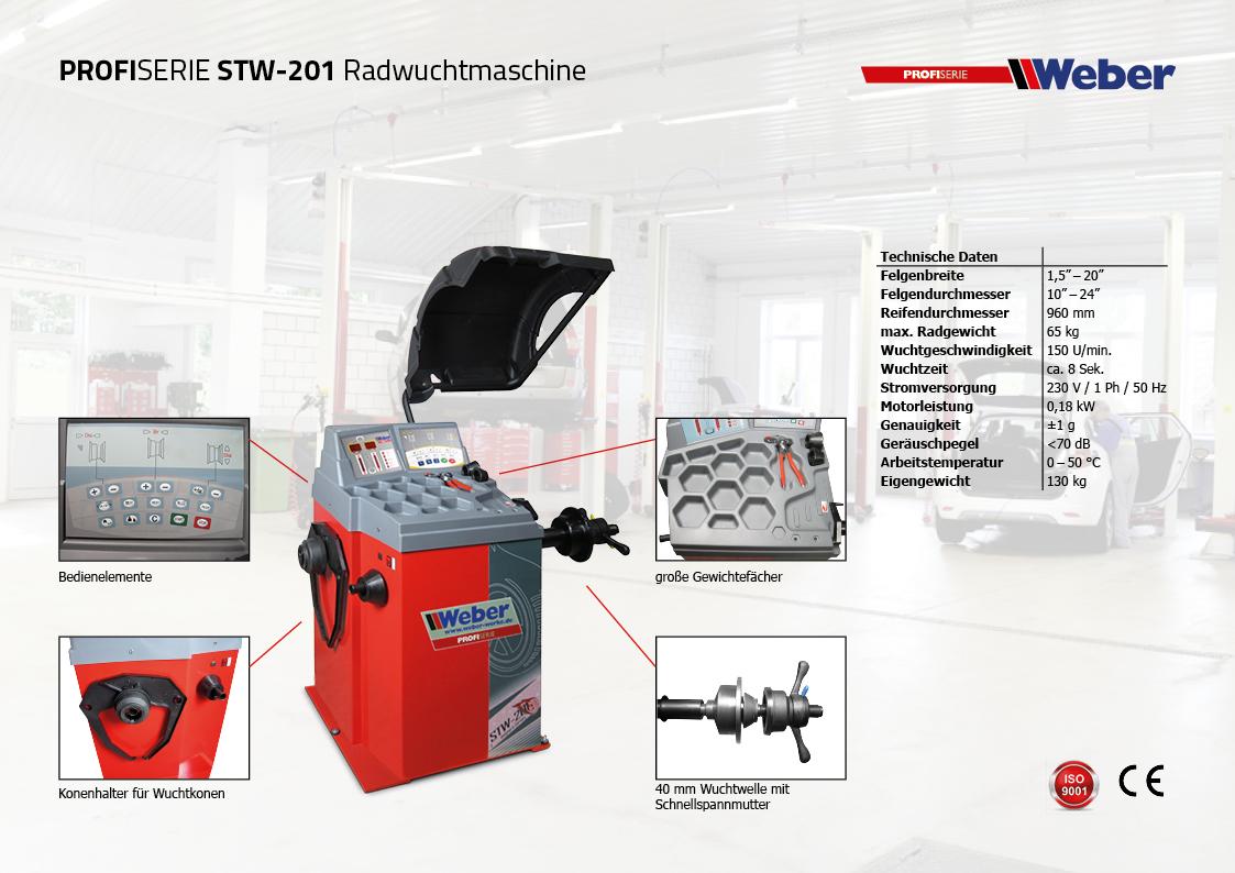 Weber Radwuchtmaschine STW-201