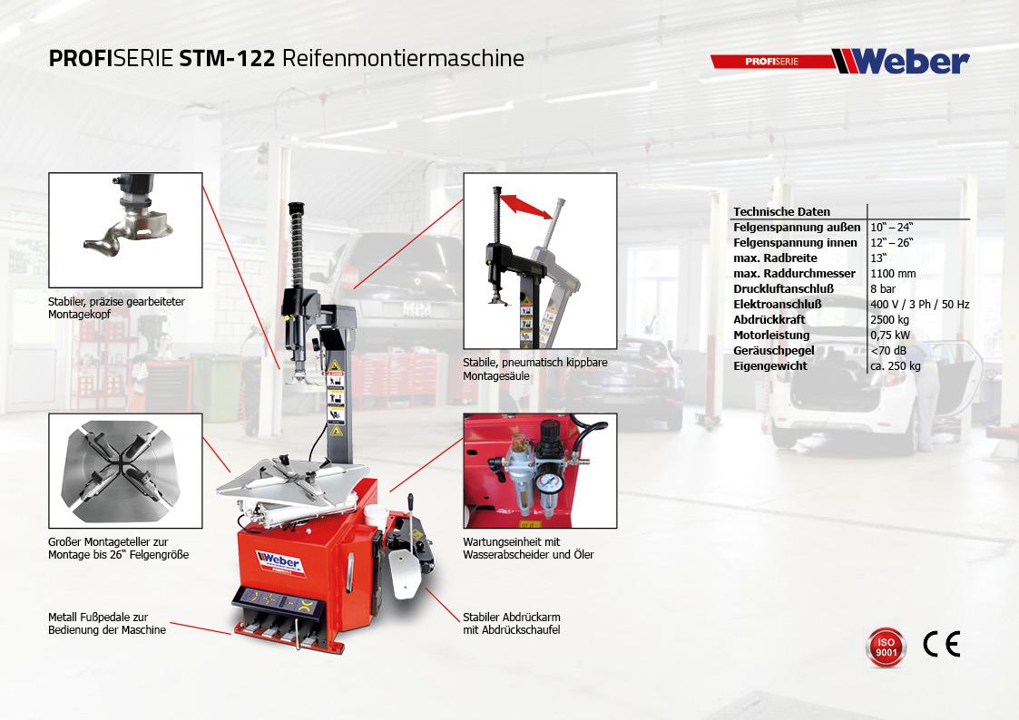 Weber Reifenmontiermaschine STM 122