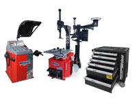 PKW Radwuchtmaschine und Reifenmontiermaschine inkl. Hilfsmontagearm und Werkstattwagen 154-teilig GRATIS
