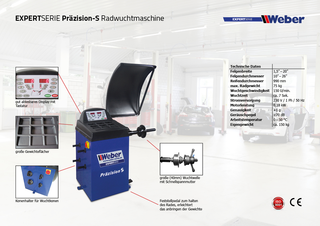 Expert Radwuchtmaschine Präzision S