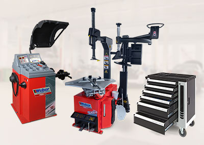 PKW Radwuchtmaschine und Reifenmontiermaschine inkl. Hilfsmontagearm und Werkstattwagen 142-teilig