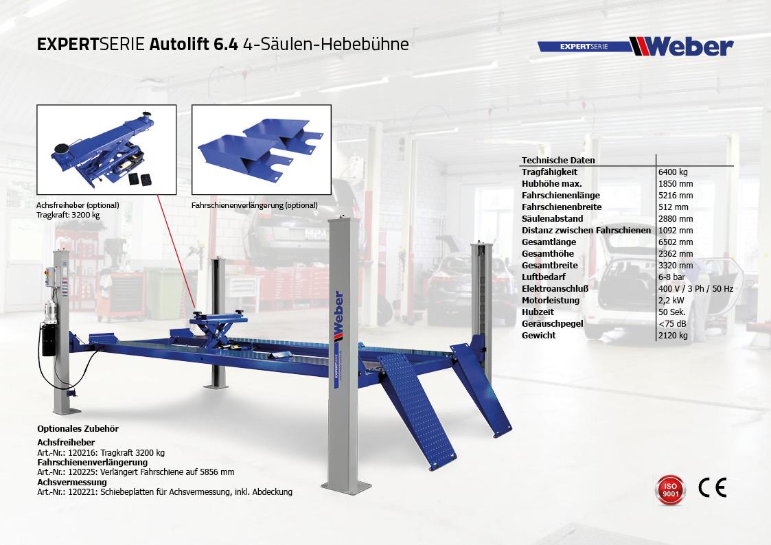 4 Säulen Hebebühne Autolift 6.4