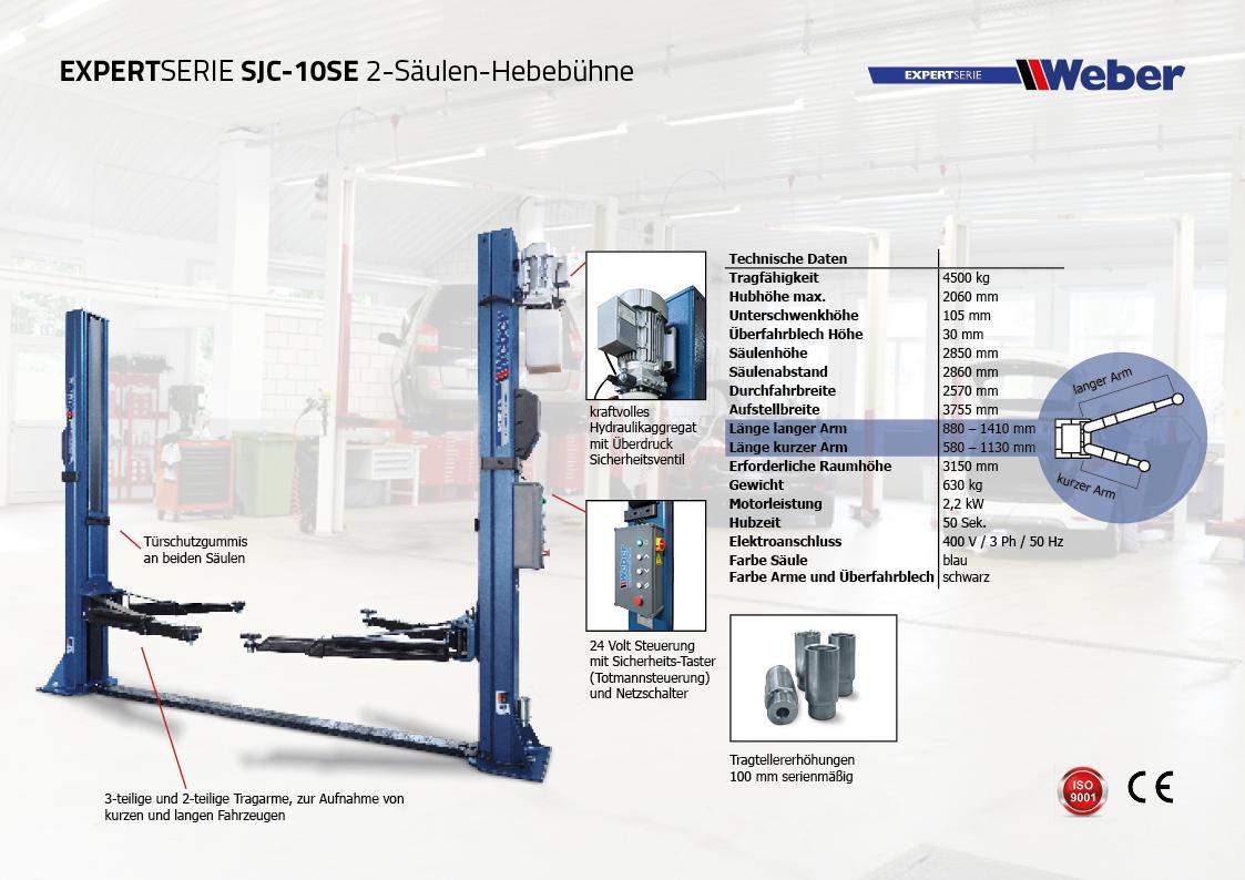 Weber Expert Serie 2-Säulen-Hebebühne SJC-10SE
