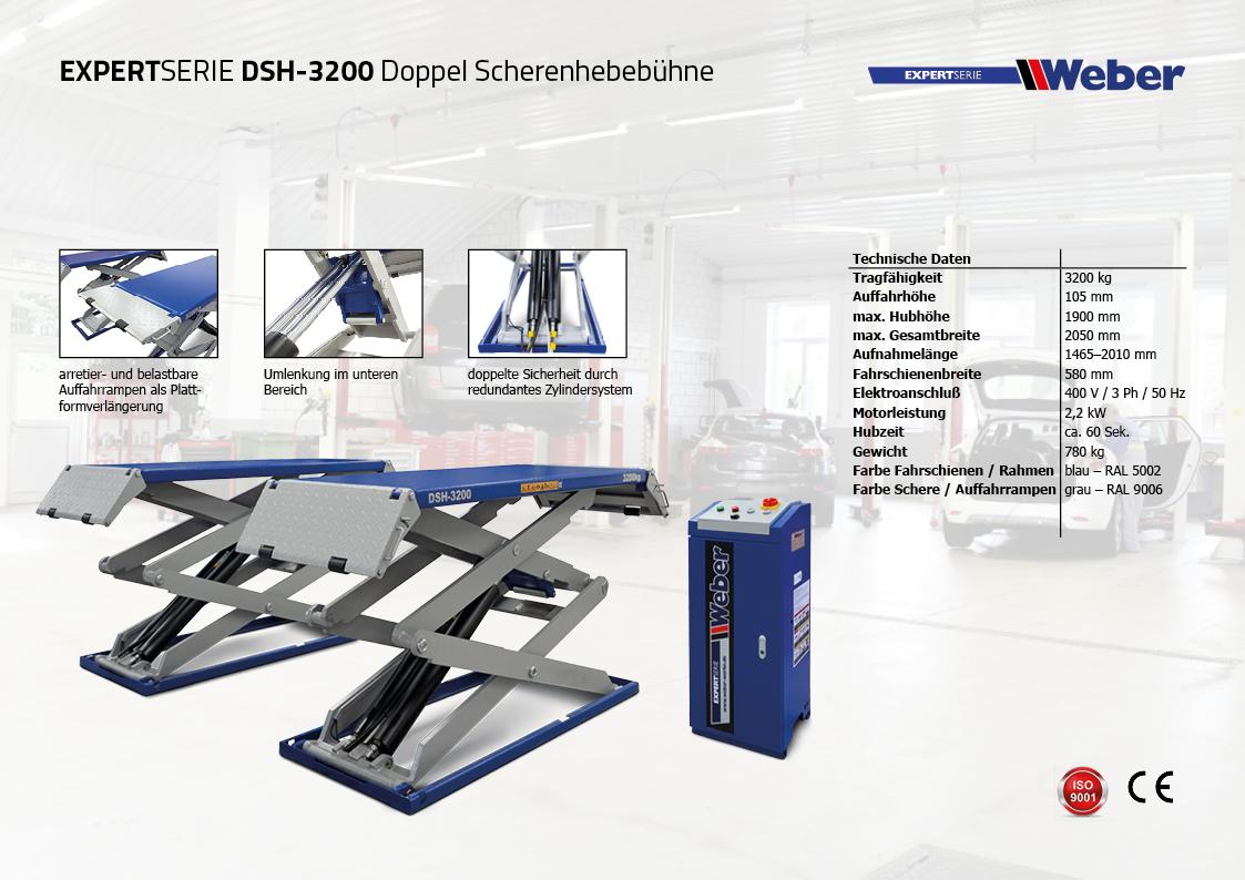 Doppel Scherenhebebühne Weber Expert Serie DSH-3200
