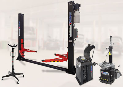 Weber Klassik Serie 2 Säulen Hebebühne inkl. Klassik Serie Reifenpaket und Getriebeheber 500 kg