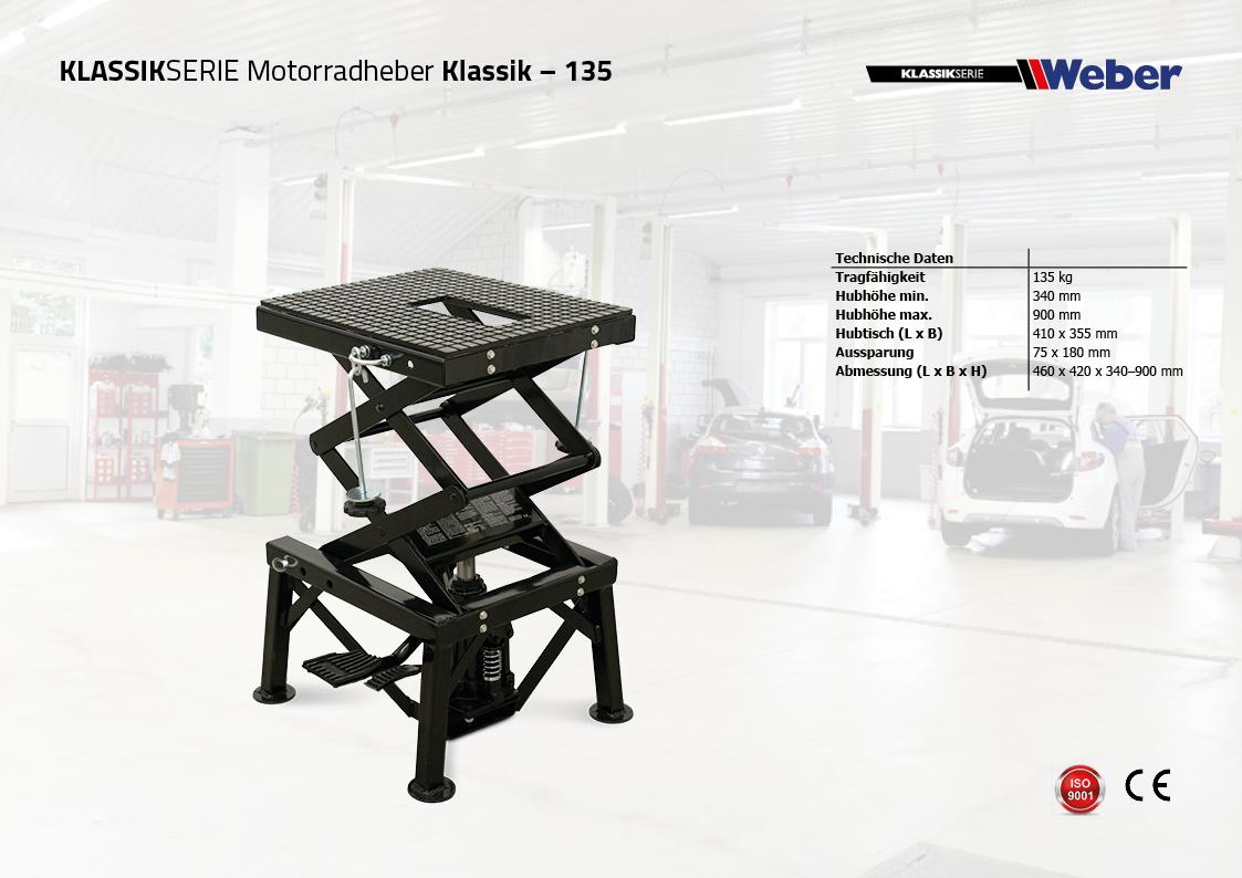 Motorradheber Weber Klassik Serie – 135