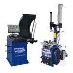 PKW Reifenmontiermaschine und Radwuchtmaschine Weber Expert Serie Werkstattpaket-S 3D