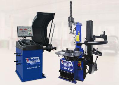Weber Radwuchtmaschine Weber Expert Serie Präzision-XL 3D + Reifenmontiermaschine Weber Expert Serie 1024-XL-2HP